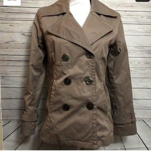 Light Brown Pea Coat By Merona Size Small